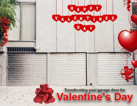 Garage door for Valentine's Day